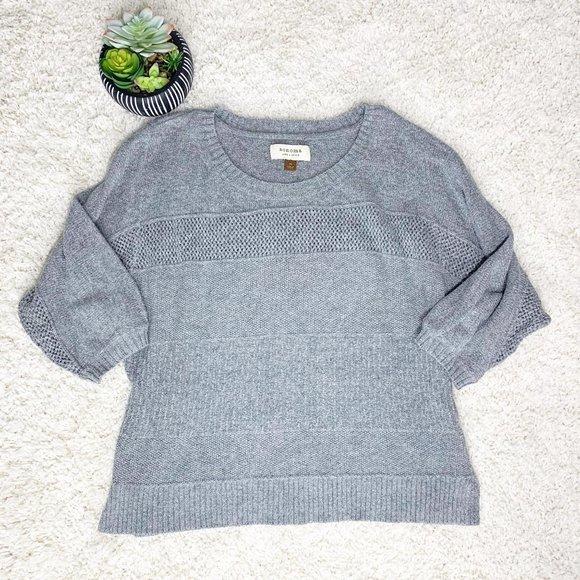 Sonoma Lifestyle Gray Crew Neck Sweater Lightweigh